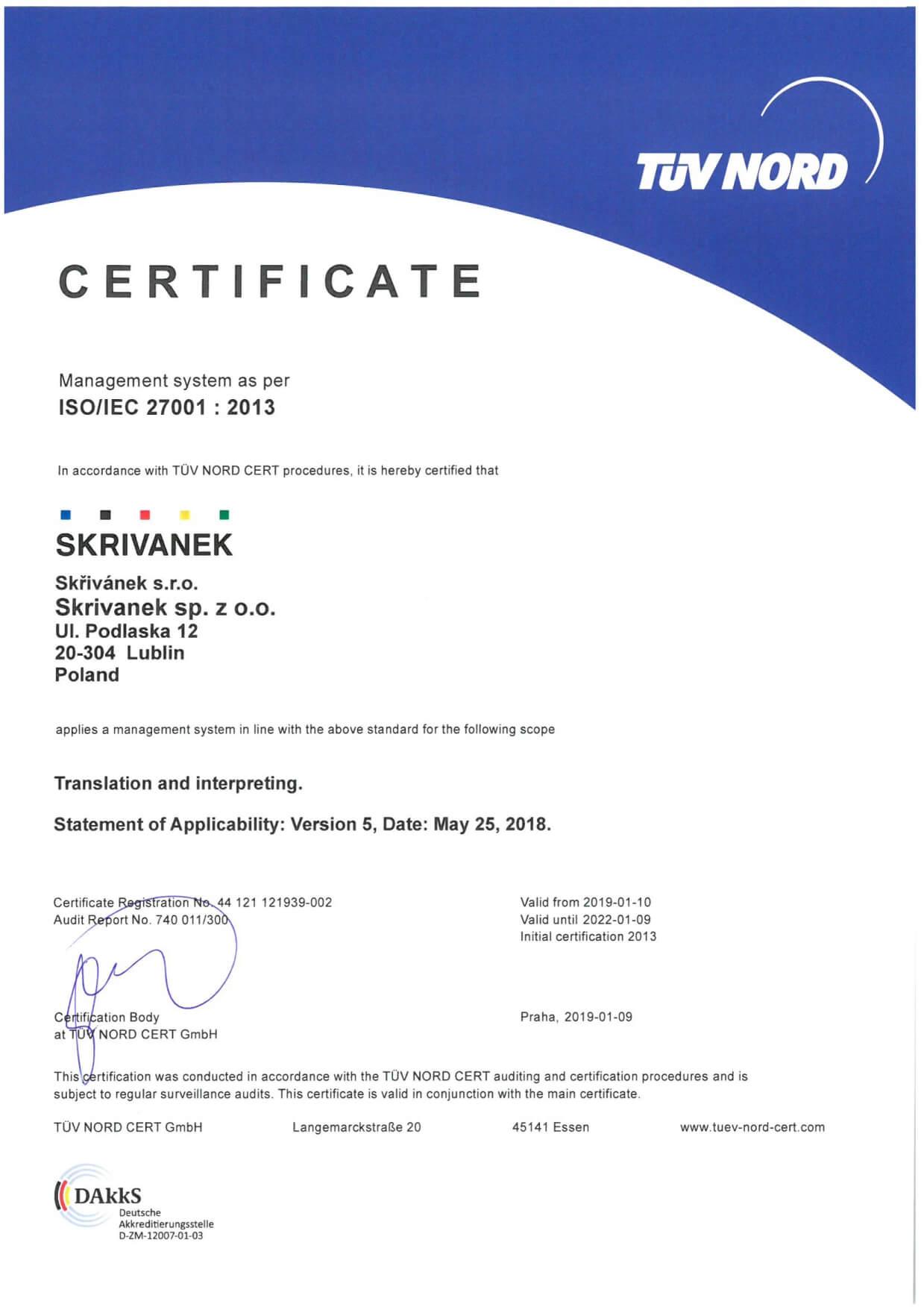ISO 27001 EN