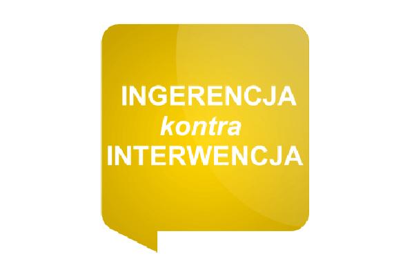 ingerencja kontra interwencja