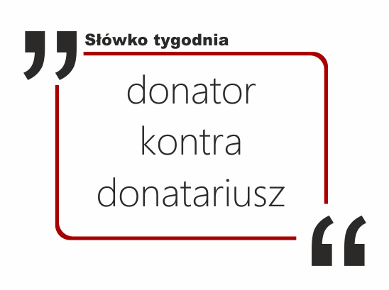 donator kontra donatariusz