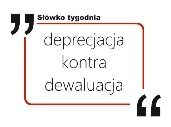 deprecjacja kontra dewaluacja
