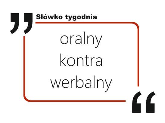 oralny kontra werbalny
